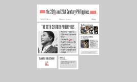 the 20th and 21st Century Philippines