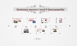 Konstytucja marowa i ustrój II Rzeczypospolitej