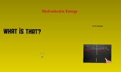 hydroelecricity