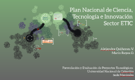 Plan Nacional de Ciencia, Tecnología e Innovación