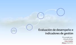 Evaluación de desempeño e indicadores de gestión