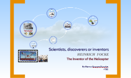 Scientists, discoverers or inventors