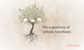 The experience of African Americans
