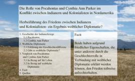Die Rolle von Pocahontas und Cynthia Ann Parker im Konflikt