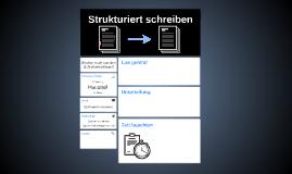 Strukturiert schreiben