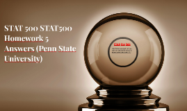 STAT 500 STAT500 Homework 5 Answers (Penn State University)