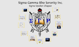Sigma Gamma Rho, Sigma Upsilon Chapter