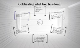 Celebrating what God has done