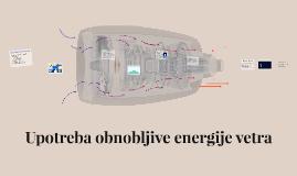 Upotreba obnovljive energije vetra
