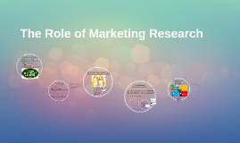 The Role of Marketing Research