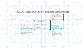 GR7/CH6 Rev. War - Sec 4:  Winning Independence