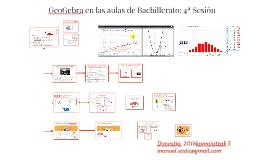 GeoGebra en las aulas de Bachillerato: 4ª Sesión