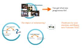 Copy of Impact of volunteering