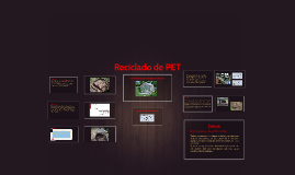 Reciclado de PET