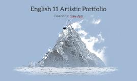 English 11 Artistic Portfolio