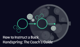 How to Instruct a Back Handspring: The Coach's Guide