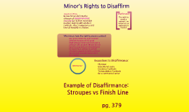 Minor's Rights to Disaffirm