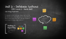 Unit 16 - Database Systems