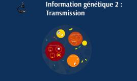Information génétique 2