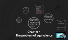 Chapter 4 The problem of equivalence