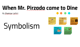 When Mr. Pirzada came to Dine - Symbolism