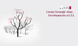 Group Strategic Aims - Developments at CLL