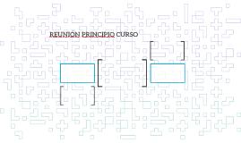 REUNIÓN PRINCIPIO CURSO