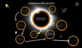 COMUNIACIÓN ESCRITA
