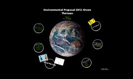 Environmental Proposal 2012
