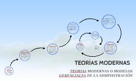 TEORÍAS MODERNAS