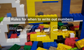 Rules for when to write out numbers