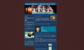 SALUD MENTAL Y PROYECTO DE VIDA