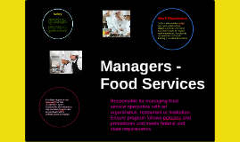 Managers- Food Services