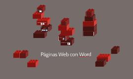 Páginas Web con Word