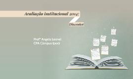 Avaliação institucional 2014