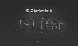 700/20 Számlamódosítás