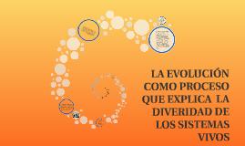 CONCEPTO DE EVOLUCIÓN