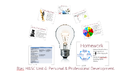 Copy of Btec H&SC Unit 6: Lesson 1- Personal Professional Development