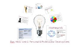 Copy of Btec H&SC Unit 6: Lesson 1- Personal Professional Development