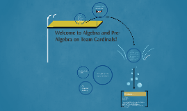 Welcome to Algebra and Pre-Algebra on Team Cardinals!