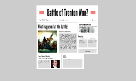 Battle of Trenton- Haniel