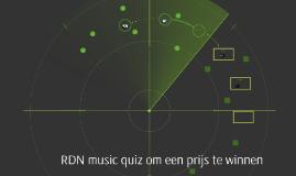 RDN music quiz om een prijs te winnen