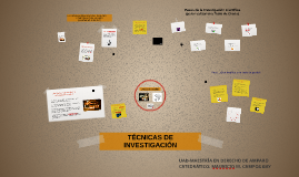 TÉCNICAS DE INVESTIGACIÓN JURÍDICA