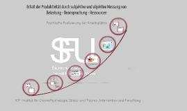 Copy of ICP - Früherkennung psycho- physischer Beanspruchungen