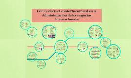 Como afecta el contexto cultural en la Administración de los