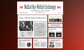 McCarthy-Welch Exchange