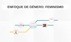 ENFOQUE DE GÉNERO: FEMINISMO