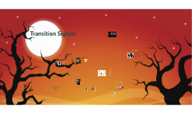 Halloween Transition signals are like traffic signals