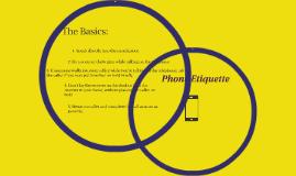Copy of Phone Ediquette