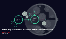 "Is the Way ""Smartness"" Measured by Schools Problematic?"